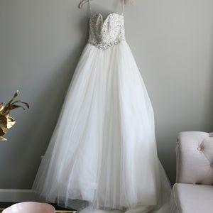 Maggie Sottero Esme ivory rhinestone ball gown